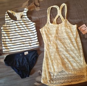 NWT swim cover, gently used gap swimsuit